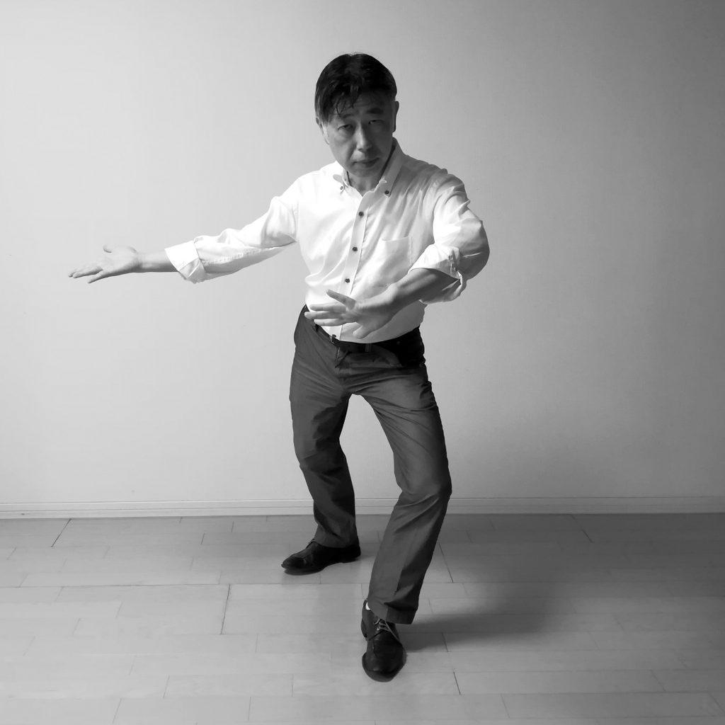 太極拳弓歩の歩法 掤捋擠按